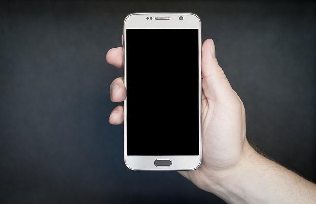 móvil blanco