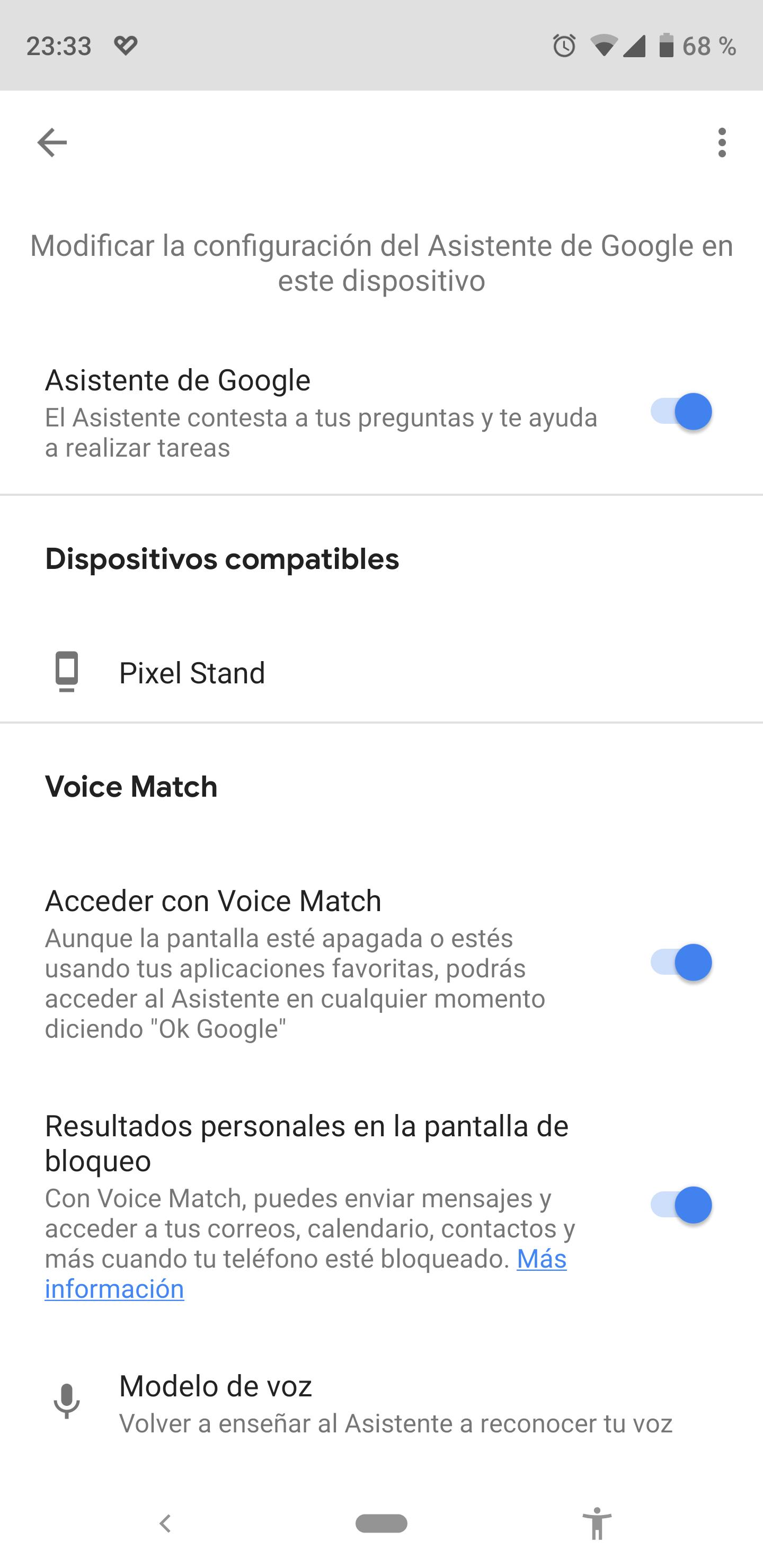 Desactivar el asistente de Google en Android