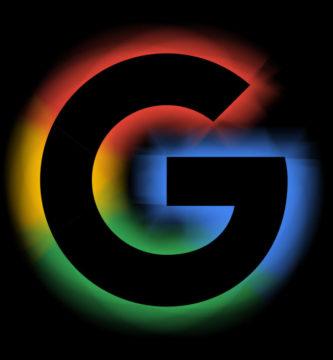 Logotipo Google con fondo negro