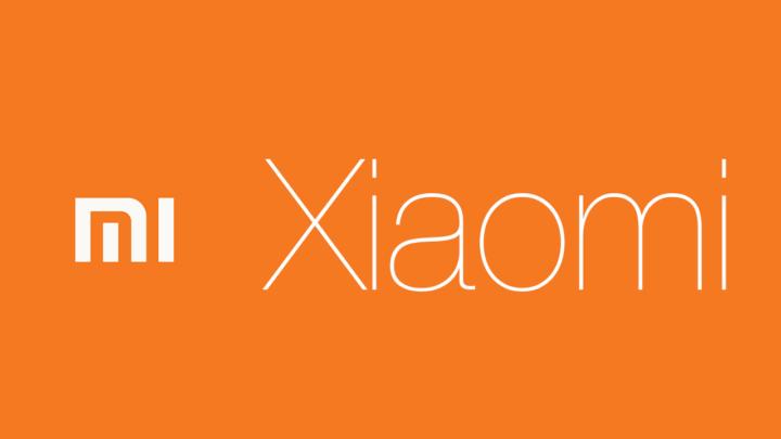 Logotipo de Xiaomi con fondo naranja