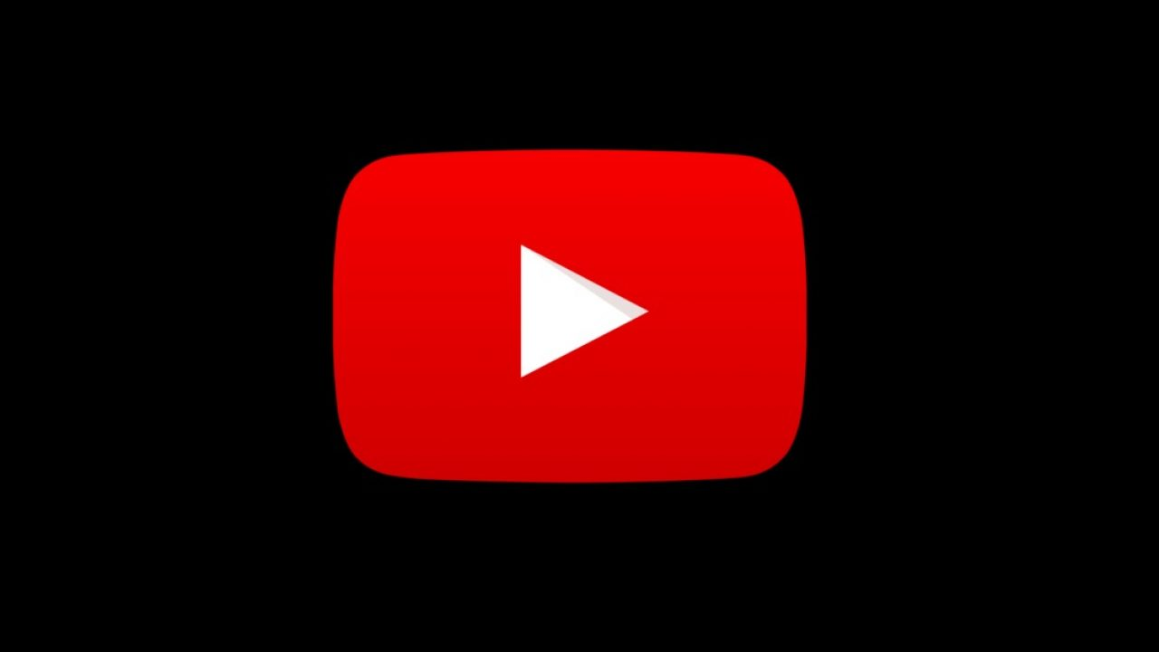 Logotipo de YouTube con fondo negro