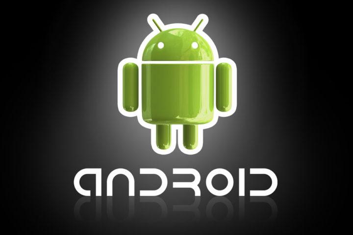 Logotipo de Android con fondo negro