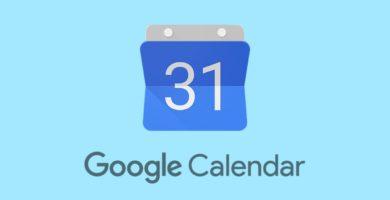 Logotipo calendario de Google con fondo azul