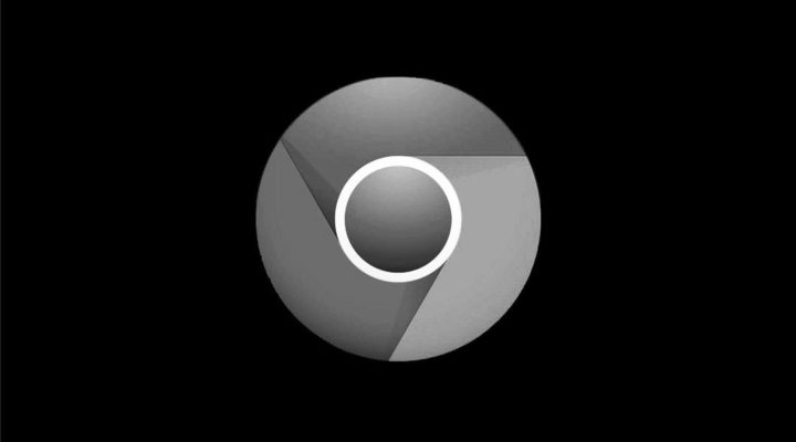 Logo oscuro en Google Chrome