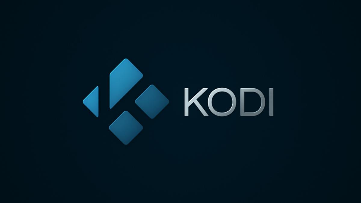 Logotipo de Kodi con fondo negro