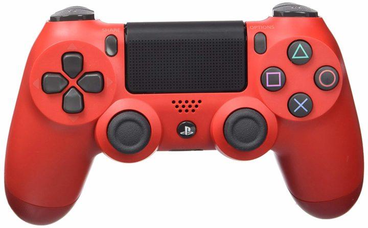Mando PS4 de color rojo