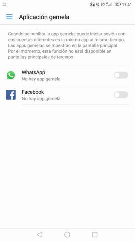 Aplicación gemela en Android