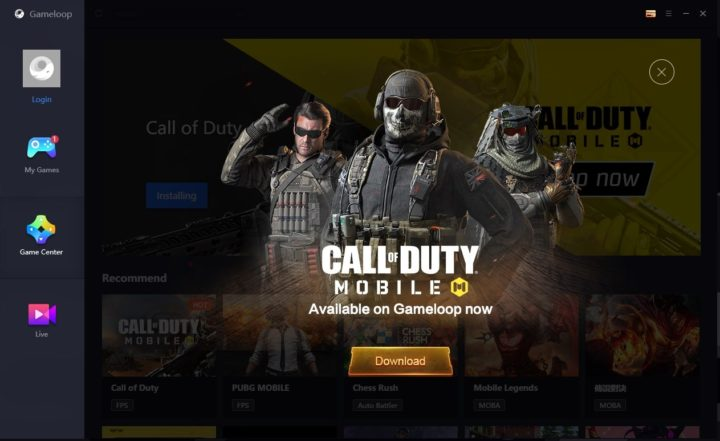 Descarga de Call of Duty Mobile en GameLoop