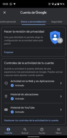 Gestiodo de actividad al navegar con Google Chrome