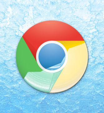 Logotipo de Google Chrome con fondo azul
