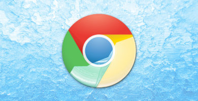 Logotipo de Google Chrome con fondo azul