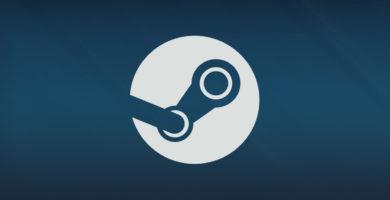 Logotipo de Steam con fondo azul