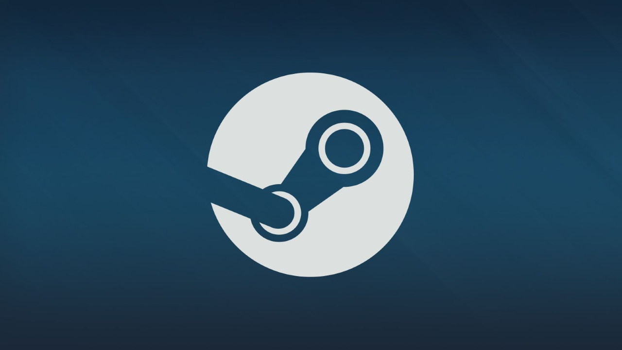 Logotipo de Steam con fondo azul