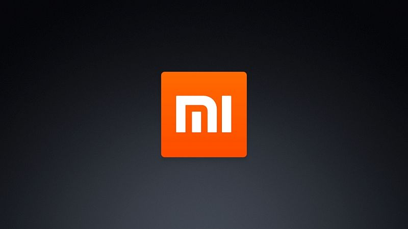 Logotipo de Xiaomi con fondo negro