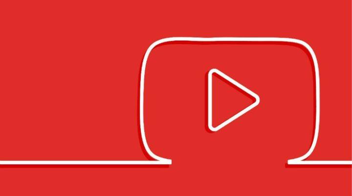 Icono de YouTube con fondo rojo