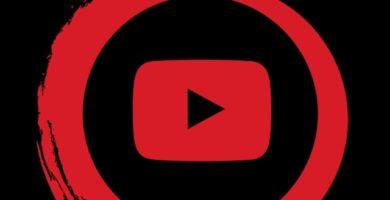 Icono de YouTube con fondo negro