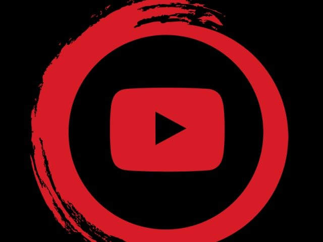 Icono de YouTube con fondo negro