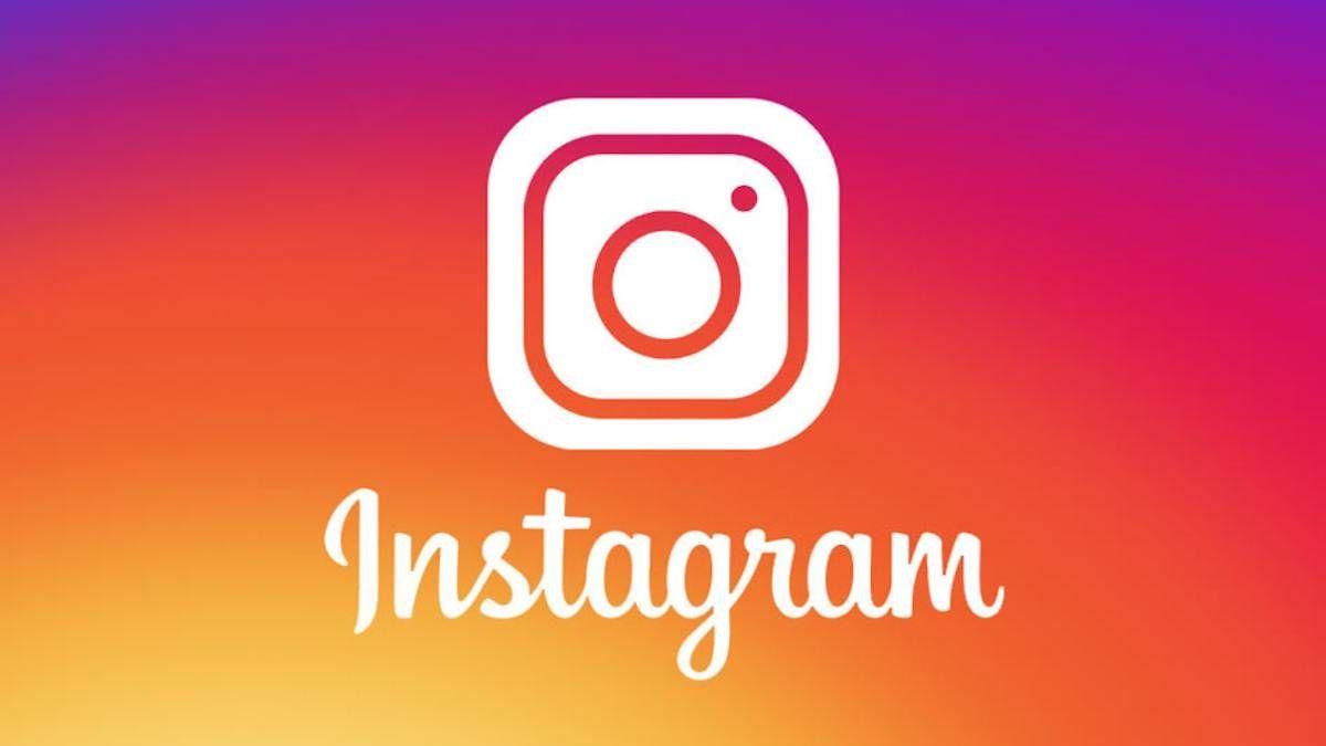Logo de Instagram con fondo rojo