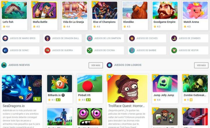 Web de juegos para navegador Minijuegos