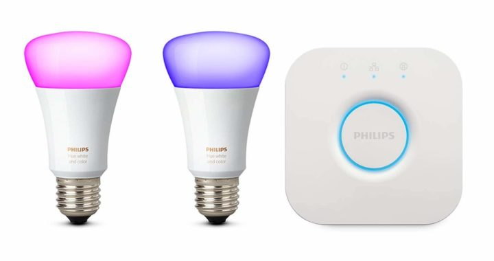 Philips Hue White and Color Ambiance Kit de Inicio 2 Bombillas Y Puente E27