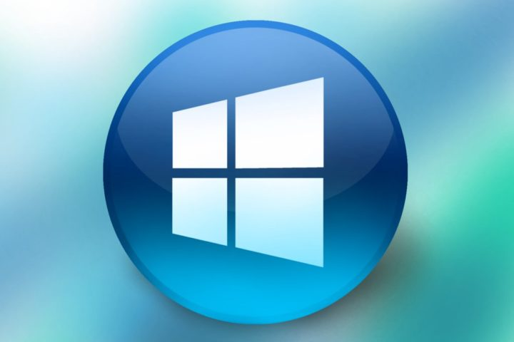 Logotipo Windows 10 en círculo