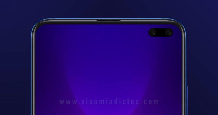 Posible aspecto frontal del Xiaomi Mi 10T