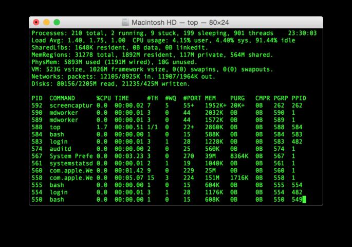Terminal con macOS