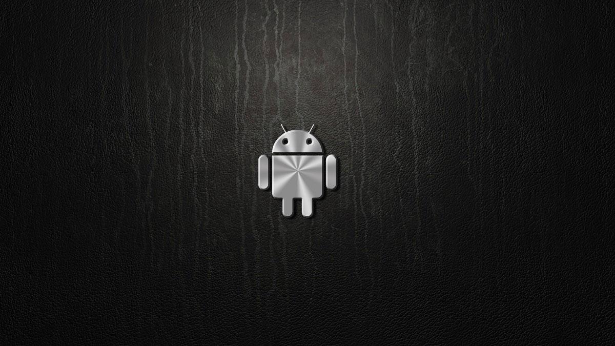 Logotipo Android con fondo negro