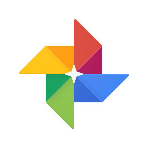 Logotipo de Google Fotos con fondo blanco