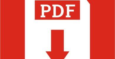 Logotipo PDF fondo rojo