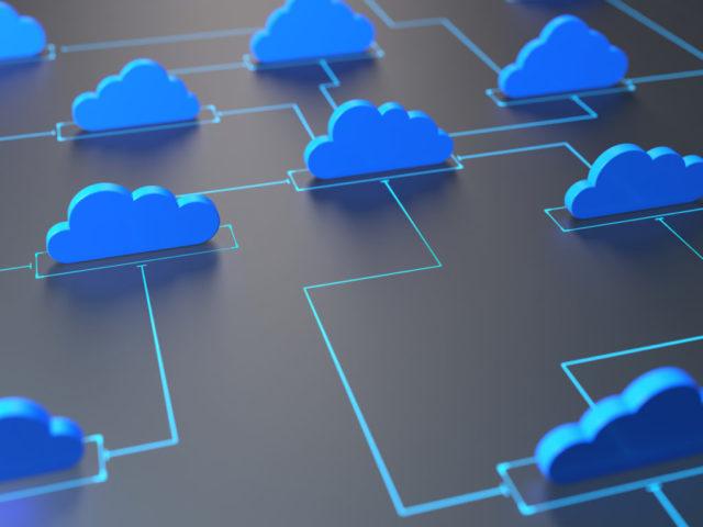 Imagen nube online de almacenamiento