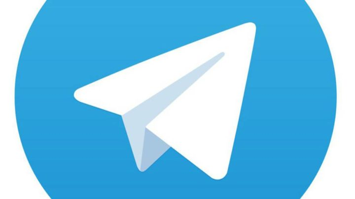 Logo de Telegram con fondo blanco