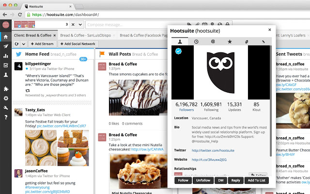 Uso de la aplicación Hootsuite