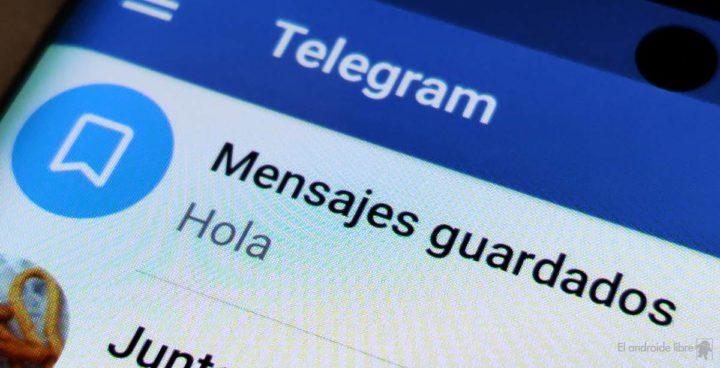 Mensajes guardados en Telegram