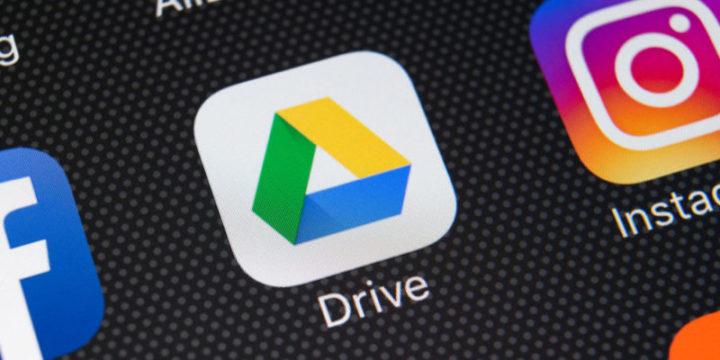 Icono de Google Drive en smartphone
