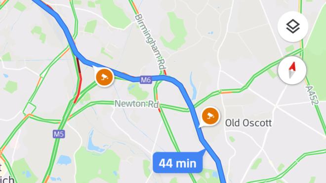 Uso de la aplicación Google Maps