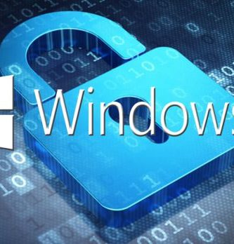 Logo de Windows 10 con candado
