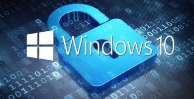 Logo de Windows 10 con candado