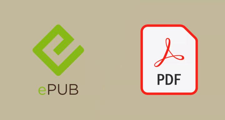 Logos de archivos ePub y PDF