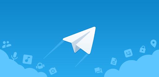 Logotipo de Telegram con fondo azul