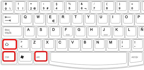 Uso atajos teclado en ordenador