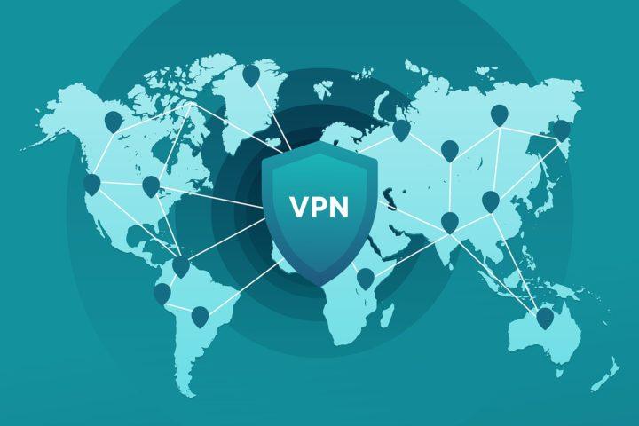 Mapa con logo VPN