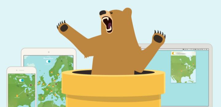 Logotipo de la aplicación TunnelBear VPN