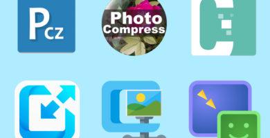 Iconos aplicaciones compresión Android