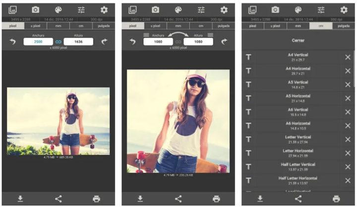 Cambio tamaño de imágenes Android