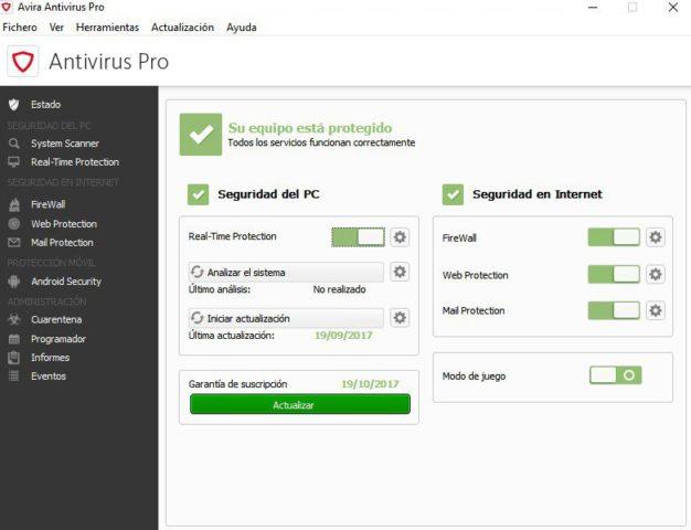 Antivirus Avira Antivirus Pro (2019)