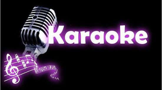 Imagen micro para karaoke con fondo