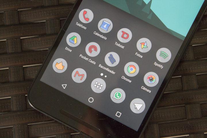 Organización de aplicaciones en un smartphone