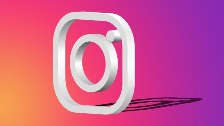 Logotipo de Instagram en tres dimenisones
