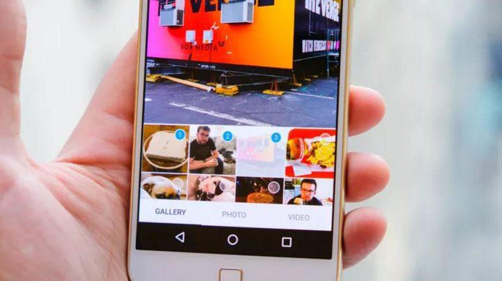 Uso de Instagram en el smartphone